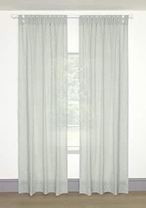 Mamas and Papas Curtains Tab Top, Voile Aqua