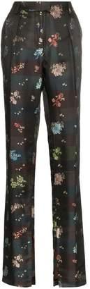 Preen by Thornton Bregazzi Juno Floral-Jacquard Trousers