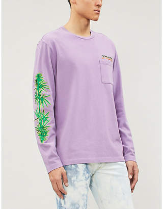 Stussy Leaves long sleeved cotton-jersey T-shirt