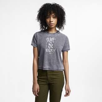 Nike Women's Ringer T-Shirt Hurley Surf And Enjoy