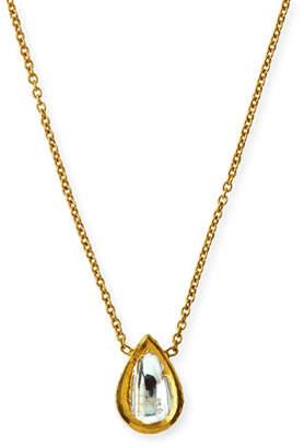 Amrapali Legend Kundan Diamond Teardrop Pendant Necklace