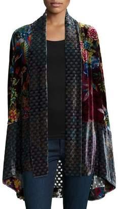 Johnny Was Dream Multi-Print Velvet Kimono Jacket, Petite