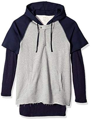 Scotch & Soda Men's Home Alone Double Layer Sporty Hoody