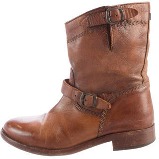 Belstaff Buckle-Accented Ankle Boots $145 thestylecure.com
