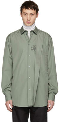 Oamc Green Illusion Shirt