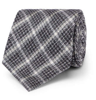 Tom Ford 8cm Checked Silk And Wool-Blend Tie