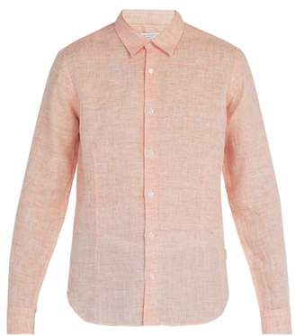 Orlebar Brown Morton Tailored Linen Shirt - Mens - Orange
