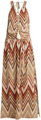 Melissa Odabash Jacquie zigzag print maxi dress