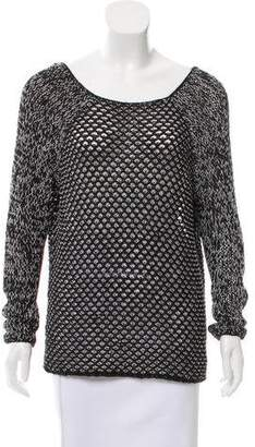 Helmut Lang Open Knit Scoop Neck Sweater