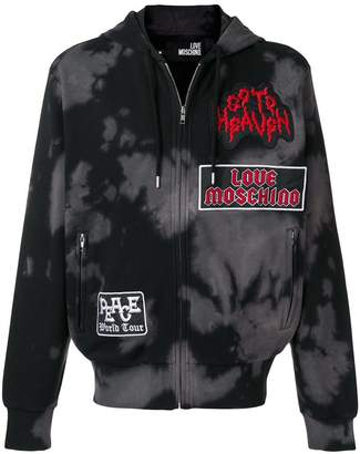 Love Moschino bleached zip-up hoodie