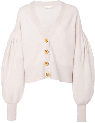 Ulla Johnson Ansel Puffed-Sleeve Cotton Cardigan