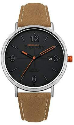 Superdry 'Oxford Field' Quartz Silver-Tone and Leather Casual Watch