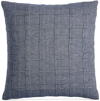 "Hotel Collection Closeout! Ticking Stripe 18"" Square Decorative Pillow, Created for Macy's Bedding"