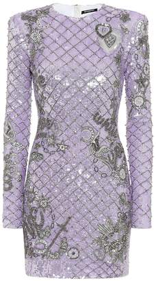 Balmain Embellished sequinned minidress