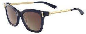 Calvin KleinCalvin Klein Womens Faceted Arm Cat-Eye Sunglasses Navy
