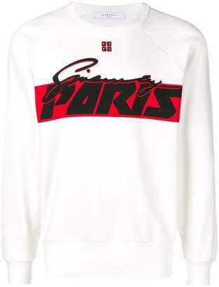Givenchy slogan sweatshirt
