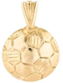 Charm 14K Soccer Ball
