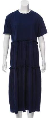 Creatures of Comfort Ruffled Midi Dress