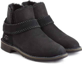 UGG McKay Fold Cuff Suede Ankle Boots with Shearling