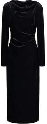 Rachel Zoe Hudson Draped Corduroy Midi Dress