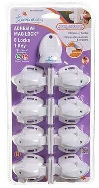 Dream Baby NEW Dreambaby Adhesive Mag Lock (Set of 8)