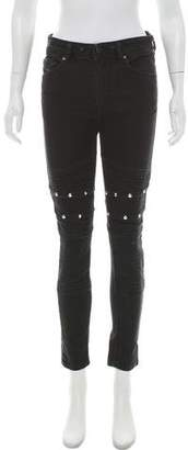 Diesel Mid-Rise Studded Jeans
