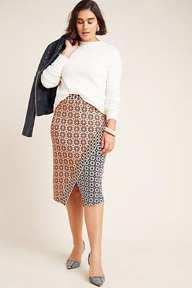 Maeve Brisa Abstract Sweater Pencil Skirt
