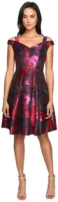 Maggy London Floral Brocade Fit and Flare Dress Women's Dress
