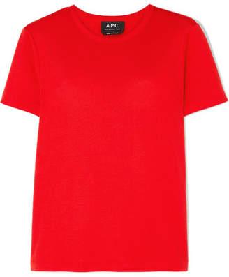 A.P.C. Cotton-jersey T-shirt - Red