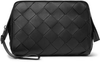 Bottega Veneta Intrecciato Leather Wash Bag - Men - Black