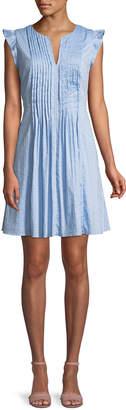 Cynthia Steffe Cece By V-Neck Flutter-Sleeve Dress