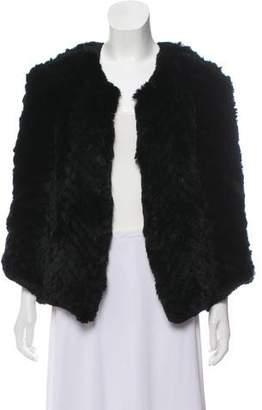 Barneys New York Barney's New York Open Front Fur Jacket