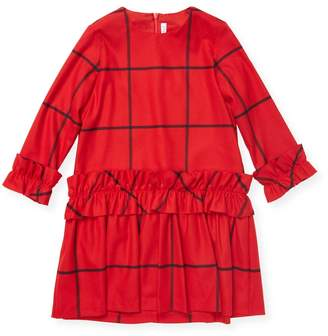 Il Gufo Ruffled Crewneck Dress