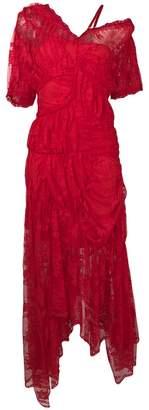 Preen by Thornton Bregazzi asymmetric ruffled dress