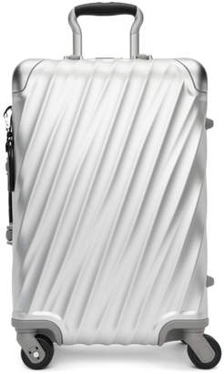 Tumi Silver Aluminum International Carry-On Suitcase