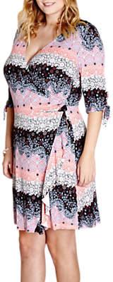 Yumi Curves French Wrap Day Dress, Multi
