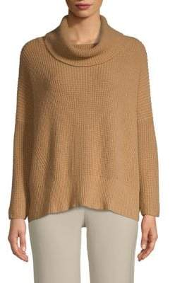 Autumn Cashmere Cowlneck Elbow-Patch Sweater