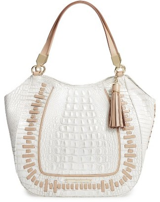 Brahmin Marianna Leather Tote - Ivory $375 thestylecure.com