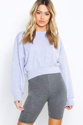 boohoo Petite Oversized Slouch Cropped Sweat Top