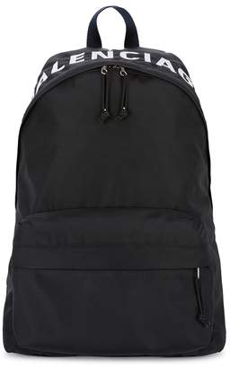 Balenciaga Black Logo Backpack