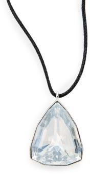 Crystal Pendant Necklace $79 thestylecure.com