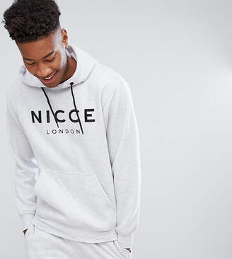Nicce London sweatshirt in gray with chest logo exclusive to ASOS