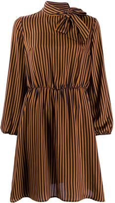 Liu Jo striped long sleeve dress