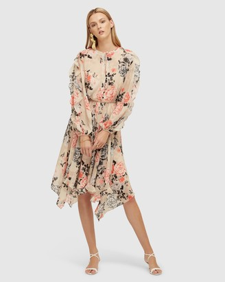 Lover Painterly Floral Midi Dress