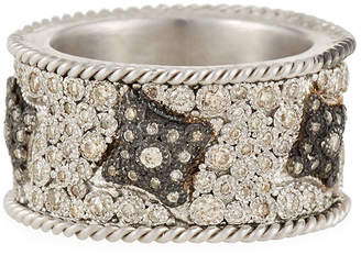 Armenta New World Midnight Crivelli Diamond Pavé Wide Ring, Size 7