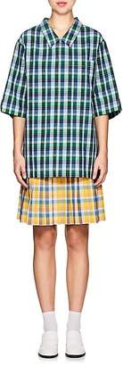 Thom Browne Women's Plaid Cotton Seersucker Drop-Waist Dress