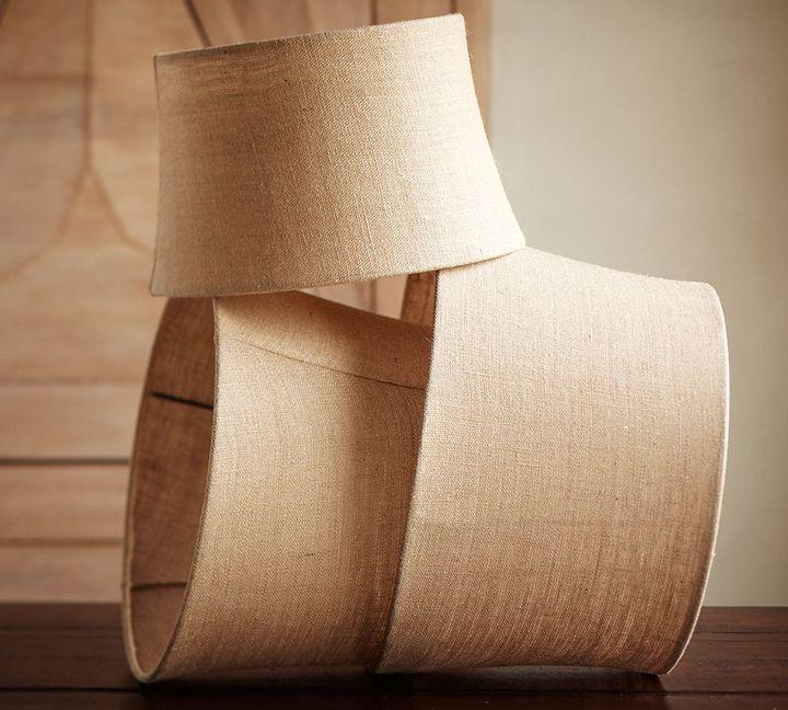 Burlap Tapered Drum Lamp Shade