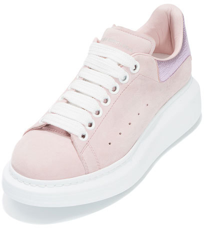 Alexander McQueenAlexander McQueen Leather Platform Low-Top Sneaker, Light Pink