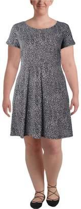 MICHAEL Michael Kors Womens Plus Animal Print Casual Dress