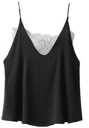 Goodnight Macaroon 'Sidney' Sheer Lace Silky Cami